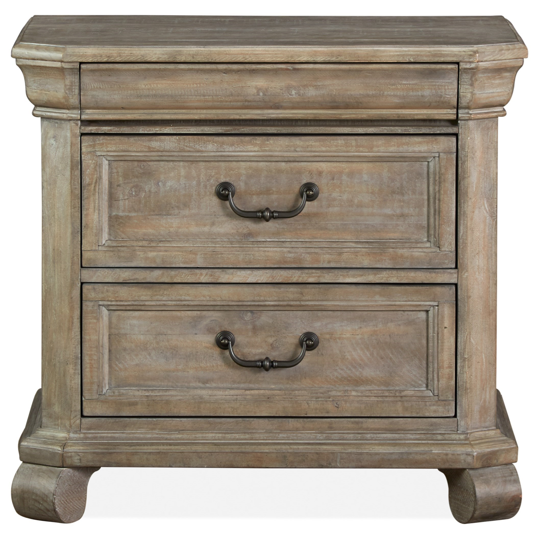 Relaxed Vintage Drawer Nightstand with Hidden Top Drawer