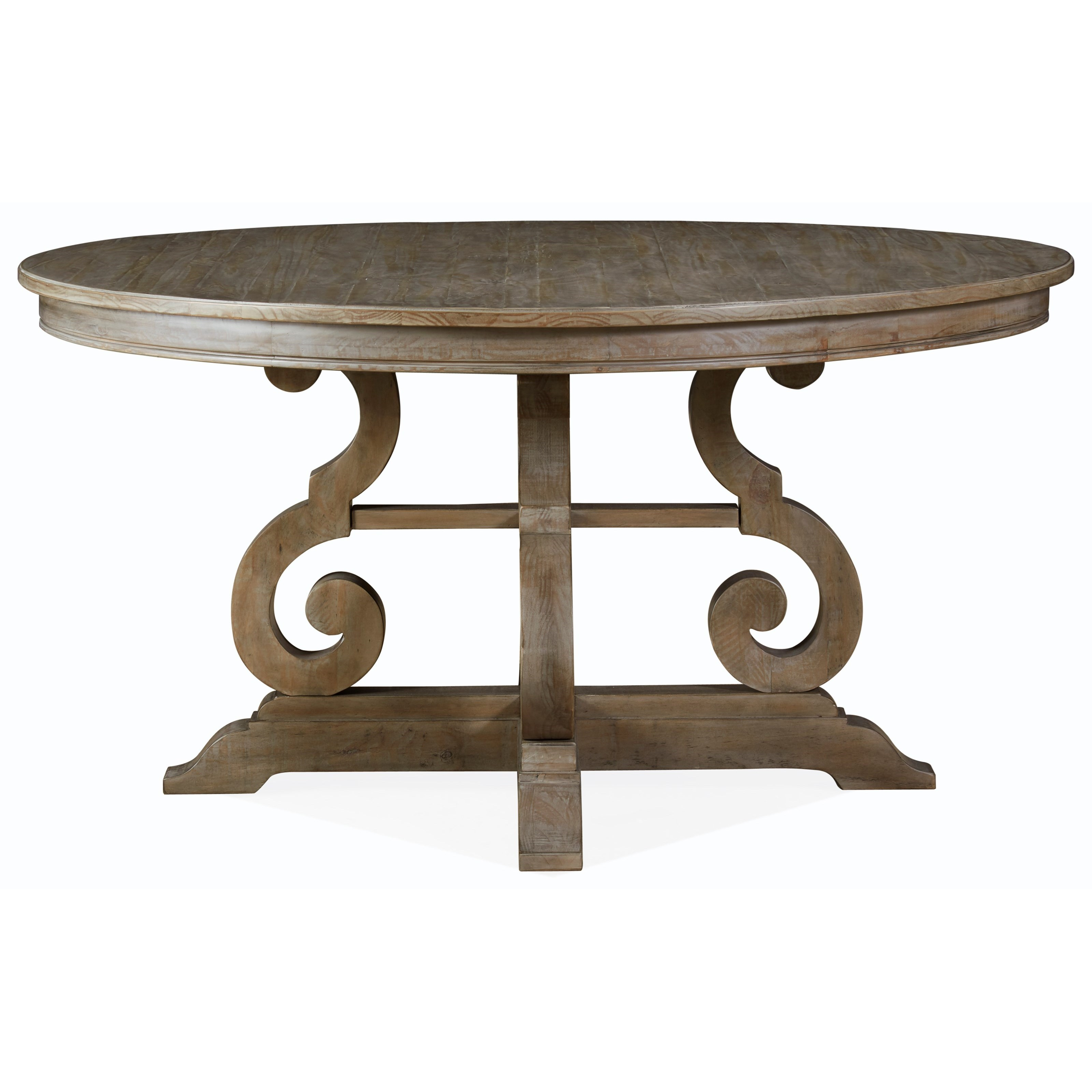 """Relaxed Vintage 60"""" Round Dining Table"""