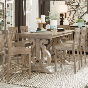 Relaxed Vintage 7-Piece Counter Height Dining Set