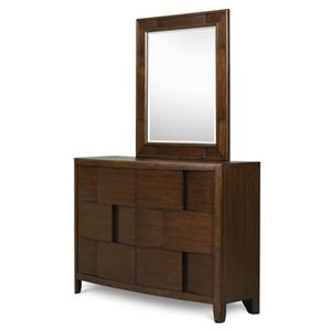 Next Generation by Magnussen Twilight  Drawer Dresser & Portrait Mirror