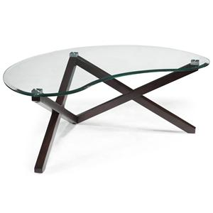 Magnussen Home Visio Shaped Cocktail Table