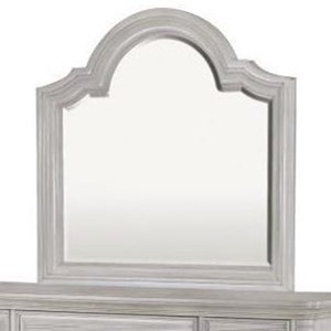 Landscape Mirror with Serpentine Top