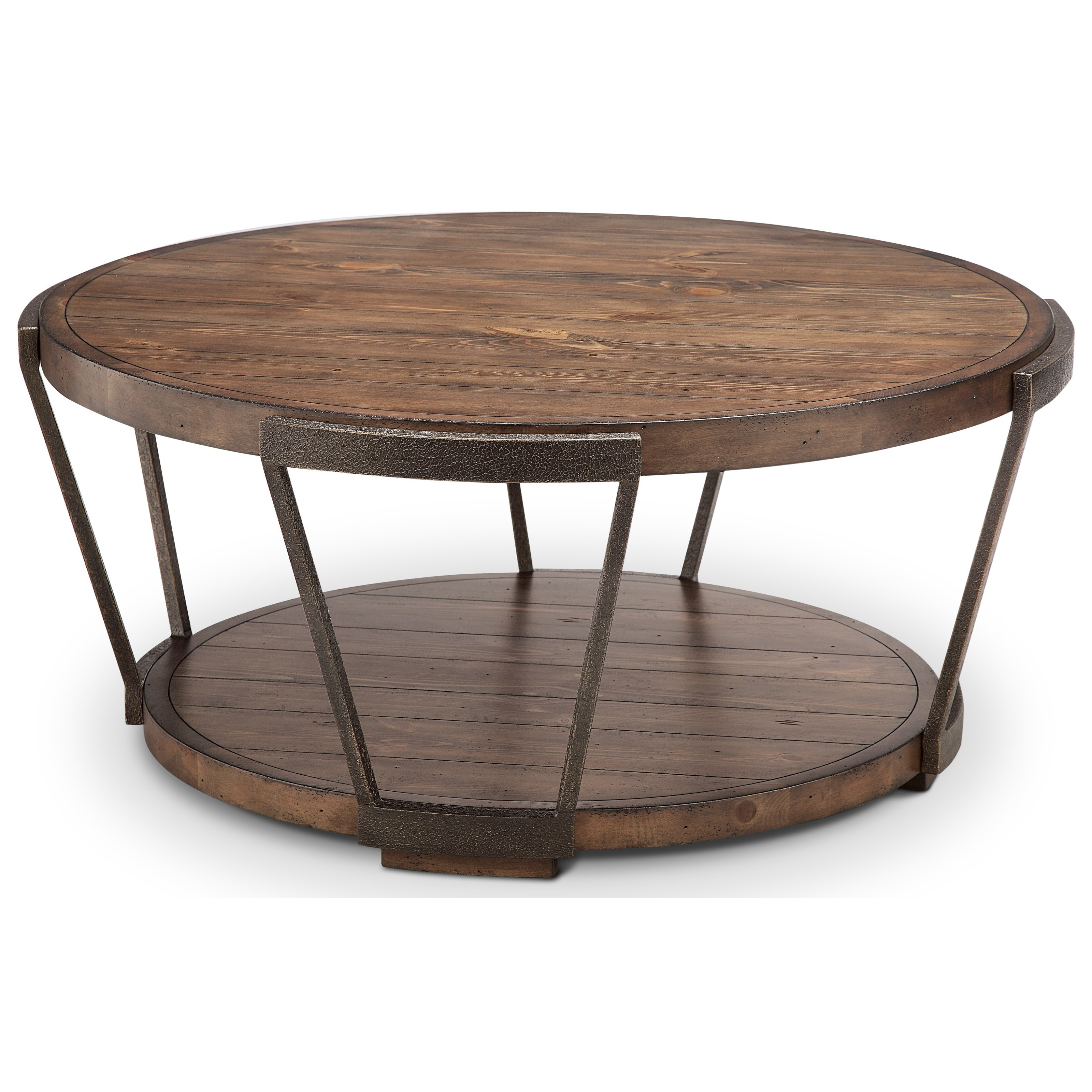 Round Cocktail Table with Casters