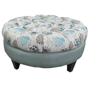 Marshfield Cecilia Round-Button Tufted Ottoman
