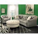 Marshfield Doris II Contemporary Conversation Sofa with Customizable Fabric