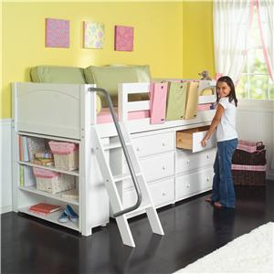 Maxtrix Kicks Low Loft Bed with Storage