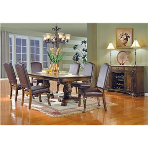 Del Sol Exclusive D8800 Dining Collection 7 Pc Fomal Dining Set