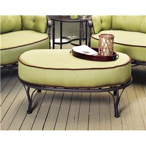Meadowcraft ATHENS Ottoman with cushion