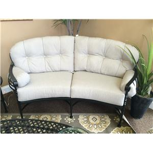 Meadowcraft ATHENS Outdoor Crescent Loveseat