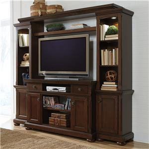 Millennium Porter TV Stand, Bridge, and Piers