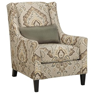 Contemporary Accent Chair with Tall Tapered Legs