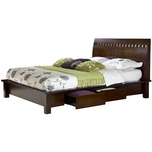 Modus International Legend Wood Queen Platform Storage Bed