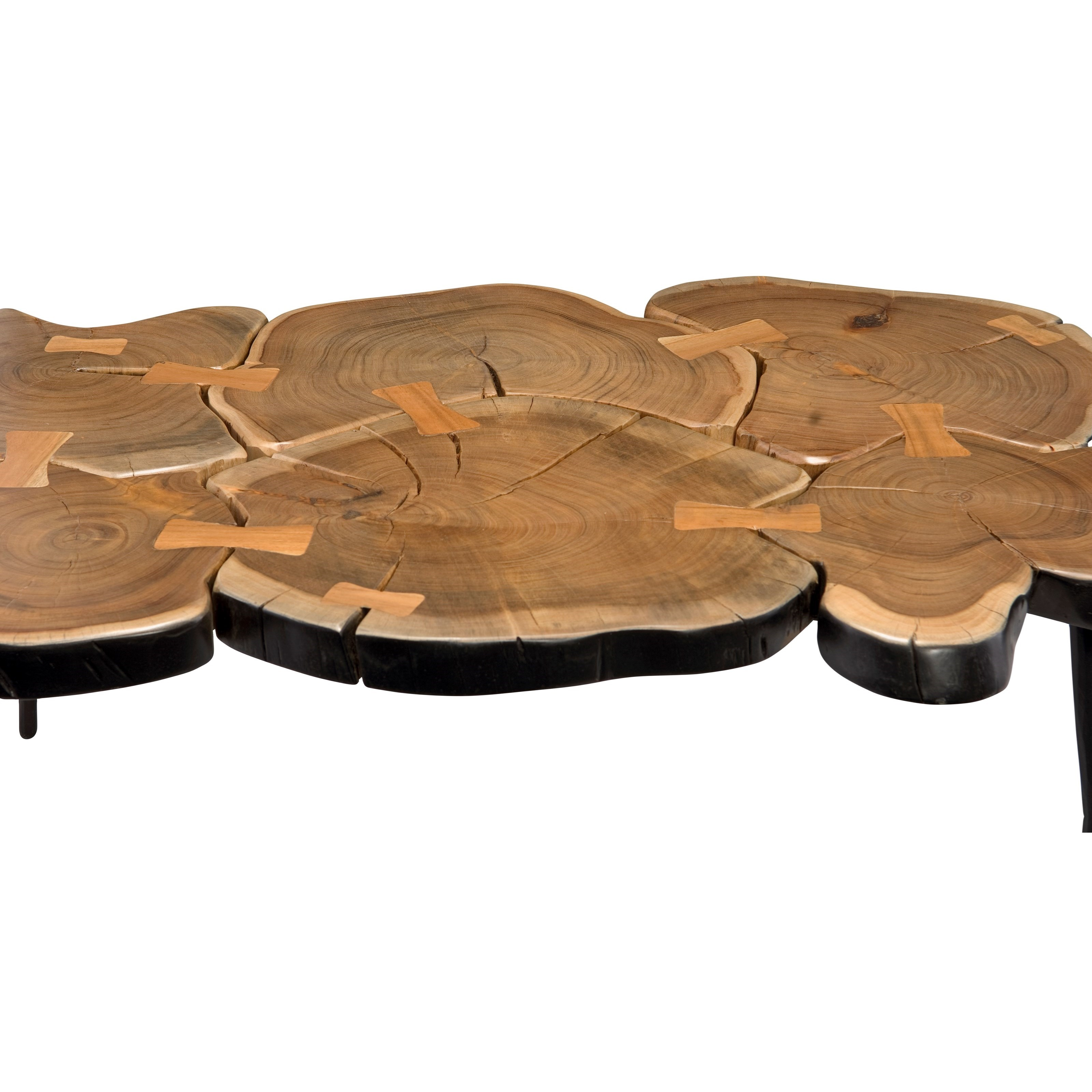 Sliced Log Coffee Table Rustic Sliced Wood Coffee Table By Moes Home Collection Wolf