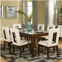 Najarian Enzo Dining Rectangular Leg Dining Table with 12