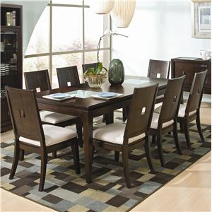 Najarian Spiga 9-Piece Formal Table & Side Chair Set