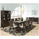 Najarian Spiga Formal Table w/ Leaf - The buffet and hutch (china cabinet) have been discontinued by the manufacturer and may no longer be available.