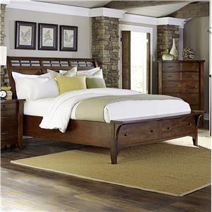 Warehouse M Whistler Retreat Queen Storage Bed