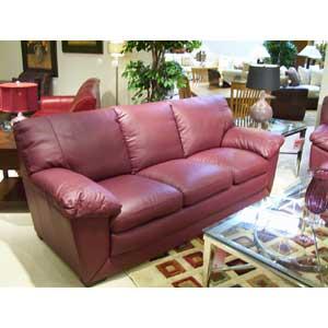 Natuzzi Editions A850 Three Cushion Leather Sofa