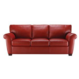 Natuzzi Editions A121 Stationary Leather Sofa