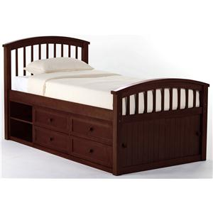 NE Kids School House Twin Captain Bed