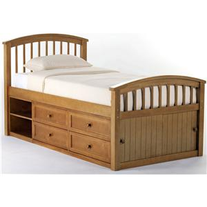 NE Kids School House Twin Captain Bed