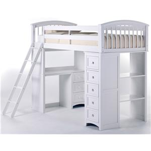 NE Kids School House Twin Loft Bed