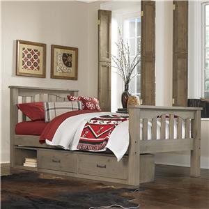 NE Kids Highlands Twin Harper Bed with Storage