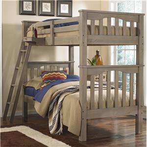 NE Kids Highlands Twin Over Twin Harper Bunk Bed