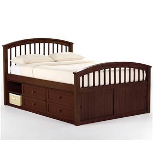 NE Kids School House Full Captain's Bed