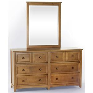 NE Kids School House Dresser and Mirror