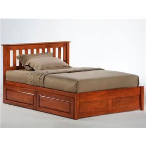 NE Kids Spice Cherry Spice Rosemary Bed with Underbed Drawers