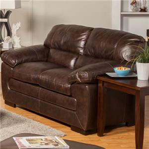 New Classic Archer Leather Match Casual Love Seat