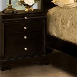 New Classic Belle Rose 4-Drawer Night Stand