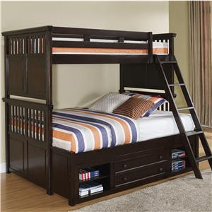 New Classic Payton Twin/Full Bunk Bed with Storage