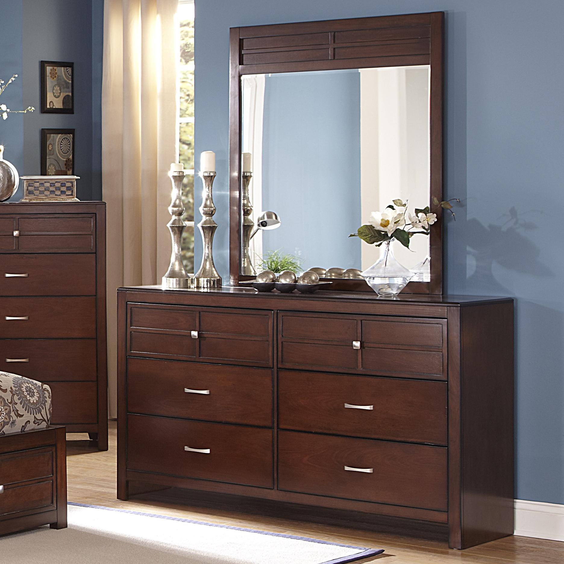 6-Drawer Dresser and Vertical Mirror Set by New Classic | Wolf and ...