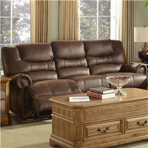 New Classic Laredo Traditional Dual Power Reclining Sofa