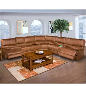 New Classic Montana Casual Recliner Sectional