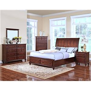 New Classic Spring Creek Queen Platform Bed with Storage Footboard