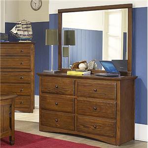 New Classic Sawmill Dresser and Mirror