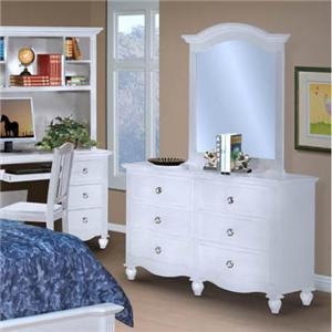 New Classic Victoria Dresser and Mirror Combination