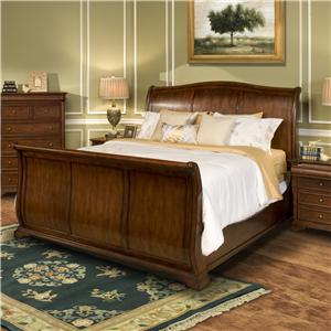Queen Sleigh Panel Bed