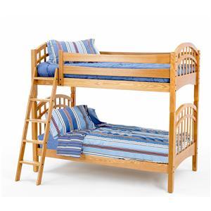 New Classic Casual Oak Youth Twin/Twin Oak Bunk Bed