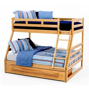 New Classic Casual Oak Youth Twin/Full Oak Bunk Bed