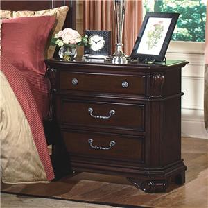 New Classic Emilie 3-Drawer Nightstand