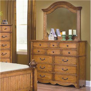 New Classic Hailey Dresser & Mirror Combo