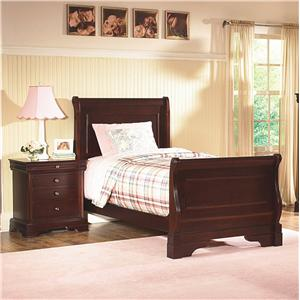 New Classic Versailles  Twin Sleigh Bed