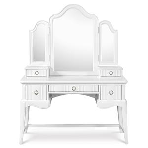 Next Generation by Magnussen Gabrielle Youth Desk with Vanity Tri-Fold Mirror