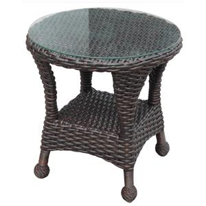 NorthCape International Briarwood End Table w/ Glass