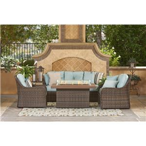 NorthCape International FLORENTINE Outdoor Wicker Sofa