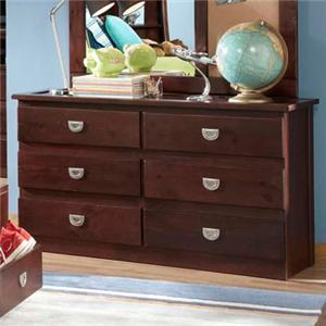 Oak Furniture West University OFW 6 Drawer Dresser